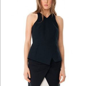 Tibi City Stretch V Neck Top NWT